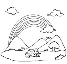 25 Best Education Images Coloring Pages Learning Mountain Landscape