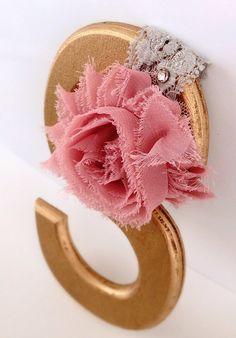 Pink Rose On Vintage Grey Lace Cuff Bracelet by MercuryShine