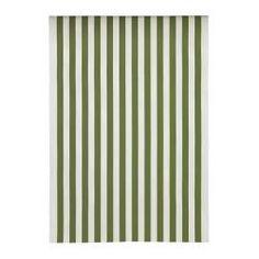 SOFIA Fabric - broad-striped/green/white - IKEA