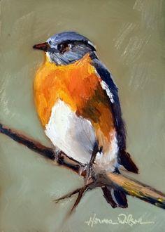Bluebird for You Bird Painting Aviary Art, original painting by artist Norma Wilson   DailyPainters.com