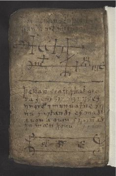 "jimtheviking: ""hannibalkanibalas: "" hedendom: ""   Galdrakver ('Little Book Of Magic') The 'Little Book Of Magic' is a seventeenth-century Icelandic manuscript, written on animal skin and containing..."