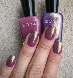 Concrete and Nail Polish: Gradient Nails - Zoya Aubrey & Daul