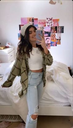 Adrette Outfits, Skater Girl Outfits, Flannel Outfits, Indie Outfits, Teen Fashion Outfits, Retro Outfits, Look Fashion, Outfits For Teens, Trendy Outfits