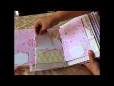 Baby Girl Scrapbook Mini Album (based on my interactive 8x8 album tutorial) - YouTube