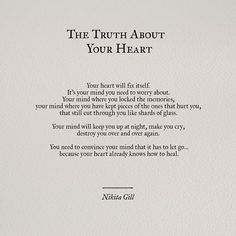 The truth about your heart.