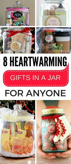 The MOST amazing way to gift a person are there gifts in a jar. Really creative and AWESOME.