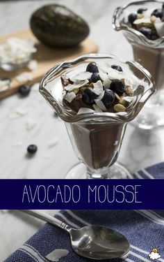 This Avocado Mousse Recipe features decadent chocolate flavors, juicy berries and of course, avocados!