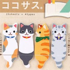 Cute Characters Sticky Note Collection (Cats)