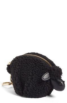1623292d8c1c Sheep  Faux Shearling Coin Pouch Bag Charm Animal Fashion