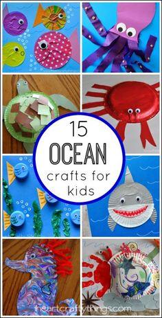 Fantastic Ocean Themed Kids Crafts Kids will love creating these 15 Fantastic Ocean Themed Kids Crafts from .Kids will love creating these 15 Fantastic Ocean Themed Kids Crafts from . Ocean Kids Crafts, Ocean Theme Crafts, Vbs Crafts, Daycare Crafts, Ocean Themes, Camping Crafts, Toddler Crafts, Summer Crafts For Toddlers, Ocean Animal Crafts