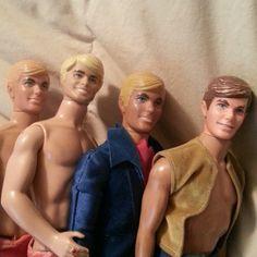 Antique Vintage Lot of Four 1968 Barbie Ken Dolls   eBay