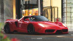 Ferrari Enzo with a Liberty Walk inspired bodykit Hope you like it! Dream Cars, My Dream Car, Mercedes Wallpaper, Ferrari Fxx, Jdm Wallpaper, Liberty Walk, Car Drawings, Hot Cars, Custom Cars