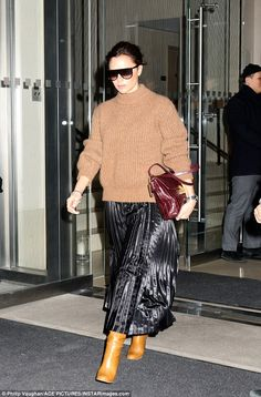 Putting her best foot forward: Victoria showed off her flair for fashion in her stylish lo...