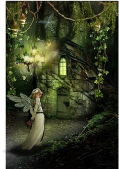 Eerie, Enchanted, and Cozy all in one. Would love to be inside there on a night like that :) Fairy Land, Fairy Tales, Fantasy World, Fantasy Art, Fantasy House, Fairy Houses, Haunted Houses, Creepy Houses, Pics Art