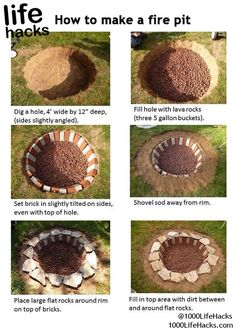 How To Make A Fire Pit Pictures, Photos, and Images for Facebook, Tumblr, Pinterest, and Twitter