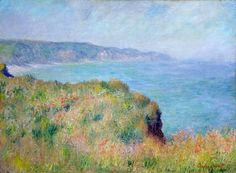 On The Cliff at Pourville, 1882, Claude Monet