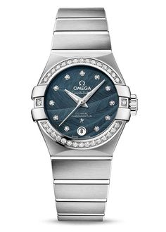 ▶ Omega Constellation Omega Co-Axial 27 mm Automatic Steel Sapphire Ladies Watch for Sale Elegant Watches, Beautiful Watches, Audemars Piguet, Cool Watches, Watches For Men, Dream Watches, Omega Co Axial, Omega Constellation, Brighton Jewelry
