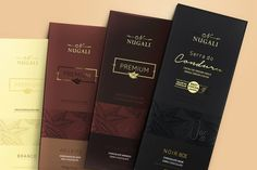 Premium Chocolate Bars NUGALI — The Dieline - Branding & Packaging Design