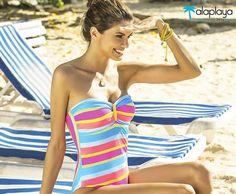 Colores rayas y sol... Encuentra este enterizo espectacular en @alaplaya.co