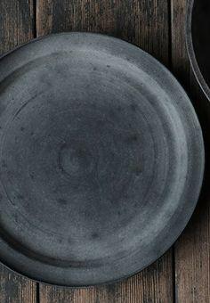 rustic grey plate