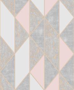Graham & Brown Milan 56-sq ft Blush/Rose Gold Vinyl Textured Stripes Unpasted Wallpaper in Pink   106532