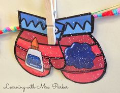 Mitten Rhymes (free; from Learning With Mrs. Parker)