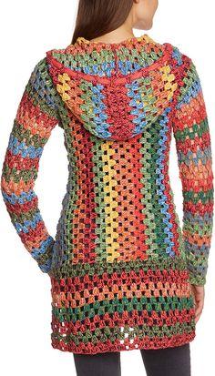 Fabulous Crochet a Little Black Crochet Dress Ideas. Georgeous Crochet a Little Black Crochet Dress Ideas. Crochet Diy, Pull Crochet, Crochet Cardigan Pattern, Crochet Jacket, Crochet Poncho, Crochet Granny, Crochet Bodycon Dresses, Black Crochet Dress, Crochet Designs