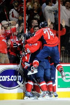 The Caps after the first of their two goals  5-9-12