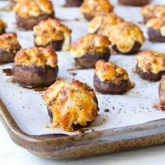 Gooey Chorizo and Cheese Stuffed Mushrooms