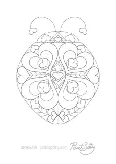 Ladybug Adult Coloring Page To Download And Print For Free