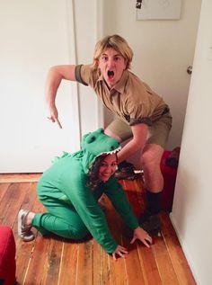 Steve Irwin and Croc