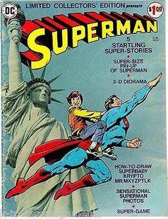 BOY RIDING SUPERMAN VINTAGE DC COMIC BOOK COVER ART POSTER PRINT
