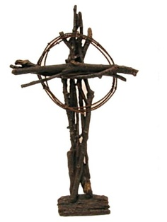 Image Detail for - Western Cowboy Furniture Store: Western Twig and Wire Cowboy Cross