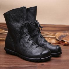 Like and Share if you want this  NEW 2017 winter Vintage Style Genuine Leather Women Boots Flat Booties Soft Cowhide Women's Shoes Zip Ankle Boots Zapatos Mujer     Tag a friend who would love this!     FREE Shipping Worldwide     Get it here ---> http://onlineshopping.fashiongarments.biz/products/new-2017-winter-vintage-style-genuine-leather-women-boots-flat-booties-soft-cowhide-womens-shoes-zip-ankle-boots-zapatos-mujer/