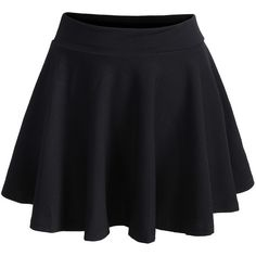 Elastic Waist Pleated Black Skirt ($7.99) ❤ liked on Polyvore featuring skirts, bottoms, saias, pants, black, elastic waistband skirt, elastic waist skirt, short skirts, stretch waist skirt and above the knee skirts