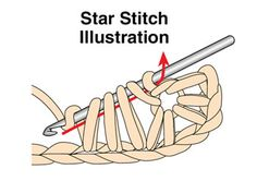 star stitch-pretty! (crochet hook holder too)