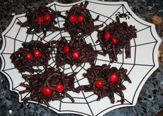Want to make some fun Halloween treats, but don't have much time? These easy Scary Chocolate Halloween Spiders can be made in just minutes! They're delicious, though, and so cute that the kids will want to help.