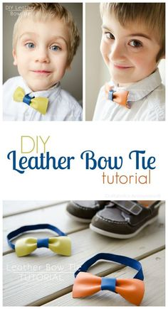 Lets dress up the men in our life with this tutorial idea! Could make a bow for girls hair, and are the perfect baby shower gift!
