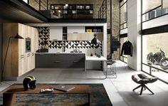 Cucina componibile con maniglie integrate TOUCH - ABACO BY SNAIDERO by Snaidero design Snaidero design