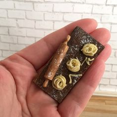 Dollhouse Miniature Pasta Board Fettuccine with by DoubleNminis
