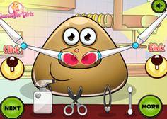PouJuegos.com - Juego: Pou Nose Doctor - Jugar Juegos Gratis Online Flash