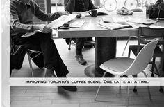 Dark Horse Espresso Bar in Chinatown, Toronto. Communal Table, Coffee Places, Espresso Bar, Coffee Dessert, Great Coffee, Dark Horse, Toronto, The Neighbourhood, Horses