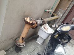 Gas pipe near the Entrance