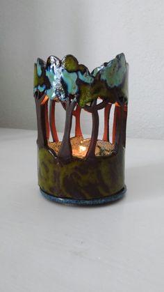 Töpfern, Windlicht Wald