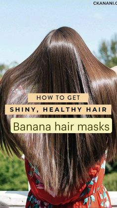Homemade Hair Treatments, Diy Hair Treatment, Hair Tips Video, Banana Hair Mask, Hair Growing Tips, Skin Care Remedies, Hair Remedies, Natural Remedies, Diy Hair Care