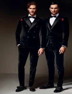 Winter Black Velvet Formal Men Suits five Styles Groom Groomsmen Tuxedos Peak Lapel Wedding Suits (