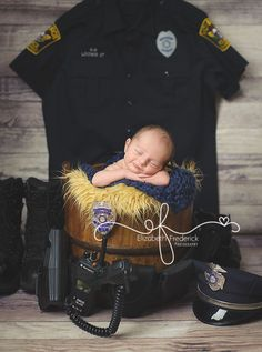 Police CT Newborn Photography Session |  CT Newborn Photographer Elizabeth Frederick Photography www.elizabethfrederickphotography.com