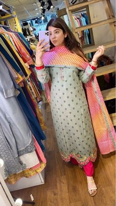 Salwar Designs, Silk Kurti Designs, Patiala Suit Designs, Kurta Designs Women, Kurti Designs Party Wear, Embroidery Suits Punjabi, Embroidery Suits Design, Hand Embroidery, Embroidery Designs
