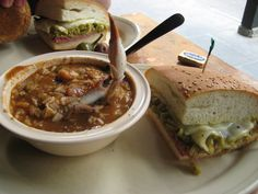 Gumbo, muffuletta and an ice-cold Dixie at Napoleon House in New Orleans.