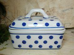 Kastenbutterdose, 13x10x10 cm , Vol 0,5 l, 2. Wahl, Tradition 24-polonaise poterie-BSN 22624 002